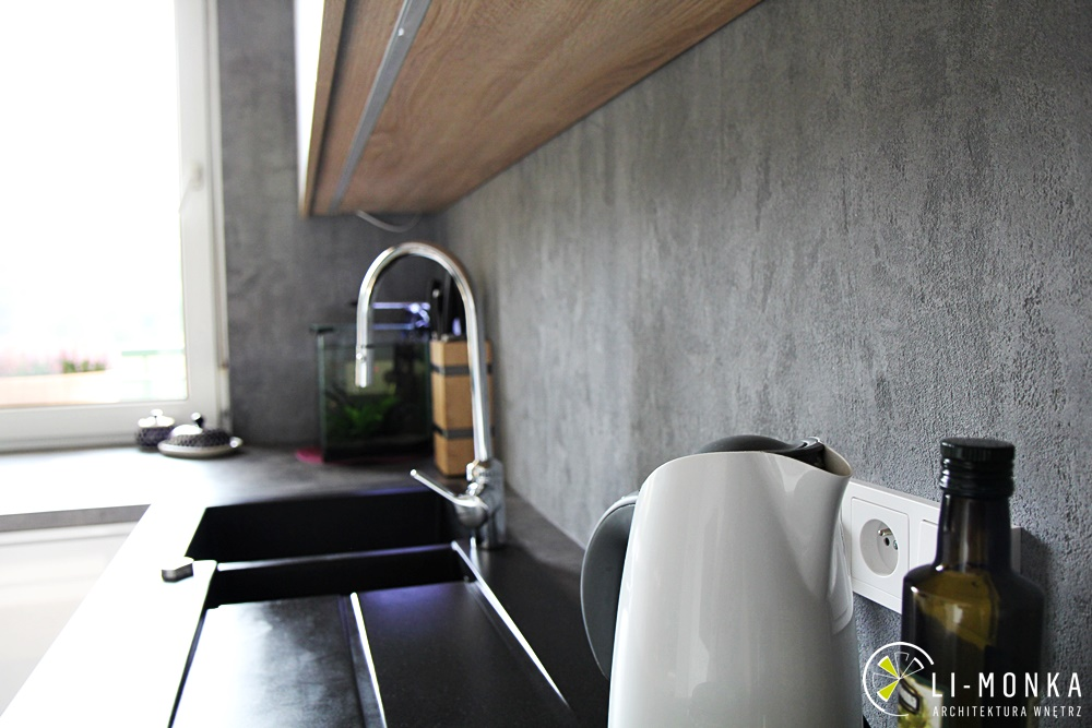Kuchnia z betonem